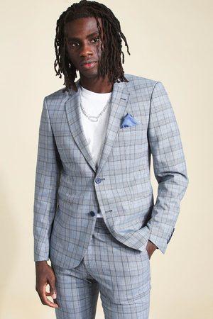 Boohoo Skinny Check Suit Jacket Homme