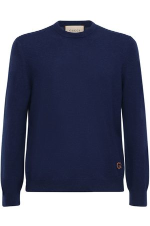 Gucci Pull-over En Cachemire Logo Gg Brodé