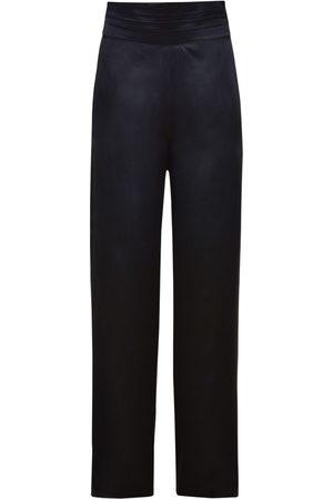 JOHANNA ORTIZ Pantalon Ample En Soie Charmeuse Taille Haute