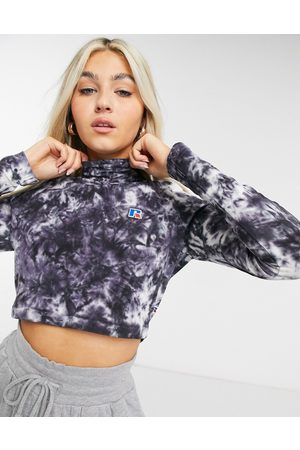 Russell Athletic Crop top à manches longues effet tie-dye