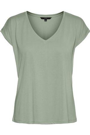 Vero Moda Femme Tops & T-shirts - V-neck Short Sleeved Top Women blue