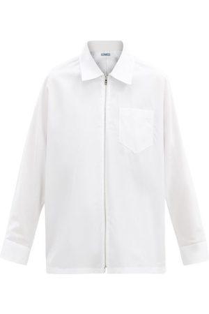 Prada Homme Business - Chemise en popeline de coton zippée