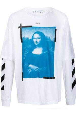 OFF-WHITE T-shirt manches-longues à imprimé Monalisa
