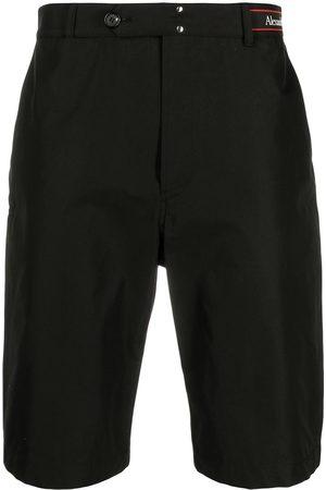 Alexander McQueen Short à bande logo à la taille