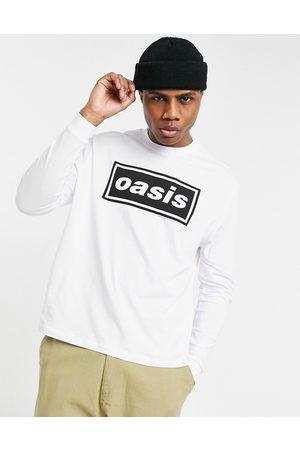 ASOS Oasis - T-shirt décontracté à manches longues avec imprimé sur le devant