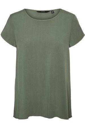 Vero Moda O-neck Short Sleeved Top Women green