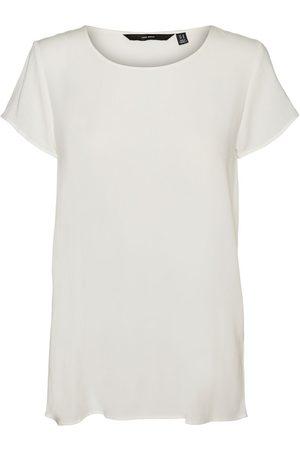 Vero Moda Femme Tops & T-shirts - O-neck Short Sleeved Top Women White