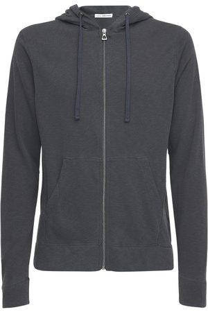 """James Perse Sweat-shirt Zippé En Coton À Capuche """"classic"""""""