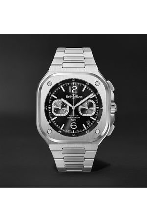 Bell & Ross Homme Montres - BR 05 Automatic Chronograph 42mm Stainless Steel Watch, Ref. No. BR05C-BL-ST/SST