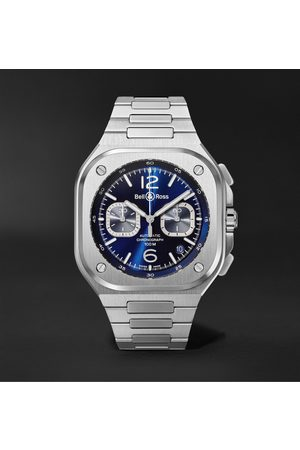 Bell & Ross Homme Montres - BR 05 Automatic Chronograph 42mm Stainless Steel Watch, Ref. No. BR05C-BU-ST/SST