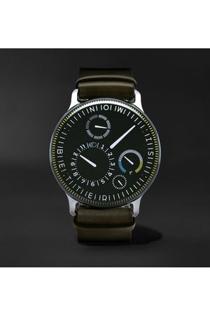 Ressence Homme Montres - Type 3X Limited Edition Automatic 44mm Titanium and Leather Watch