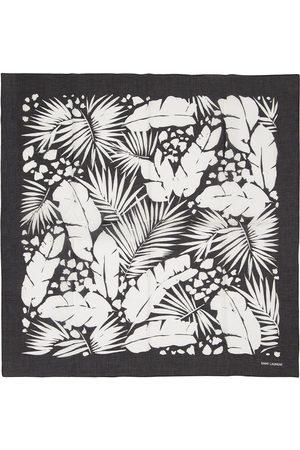 Saint Laurent Bandana En Coton Imprimé Fleurs