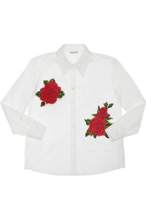 Dolce & Gabbana Chemise En Popeline Détail Patchs Roses