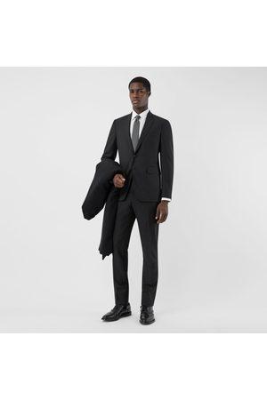 Burberry Costume slim en laine et mohair, Size: 46R, Black
