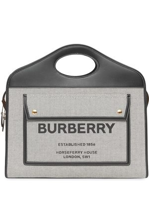 Burberry Sac à main Pocket médium bi-matière à logo
