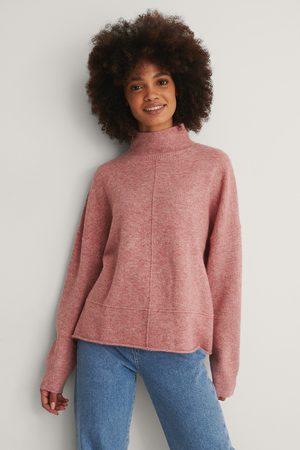 NA-KD Pull En Tricot À Épaules Dénudées Et Col Montant - Pink