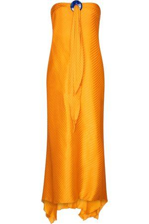 GALVAN Robe longue en soie