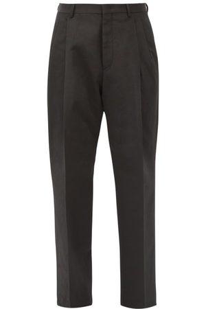 VALENTINO Pantalon droit en faille de coton mélangé