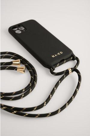 NA-KD Femme Téléphones - Cord Strap Phone Case - Black