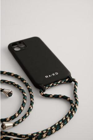 NA-KD Cord Strap Phone Case - Black,Green
