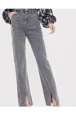In The Style X Olivia Bowen - Jean coupe droite taille haute fendu à l'avant