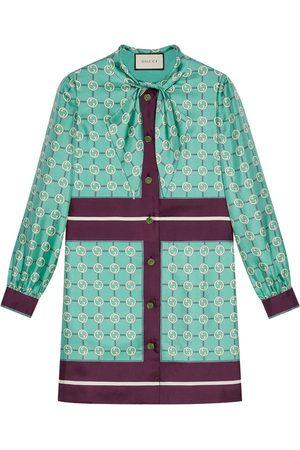 Gucci Robe-chemise à col à lavallière