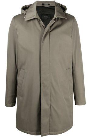 DELL'OGLIO Manteau boutonné à capuche