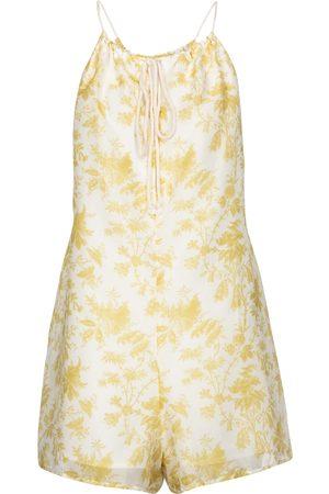 SIR Combi-short Clementine en coton et soie à fleurs