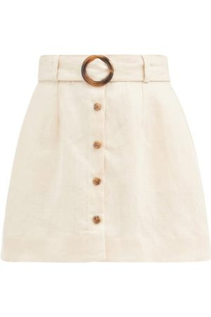 Lisa Marie Fernandez Mini-jupe ceinturée en lin