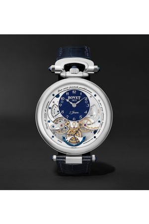 BOVET Homme Montres - Monsieur Hand-Wound 43mm 18-Karat White Gold and Leather Watch, Ref. No. AI43018