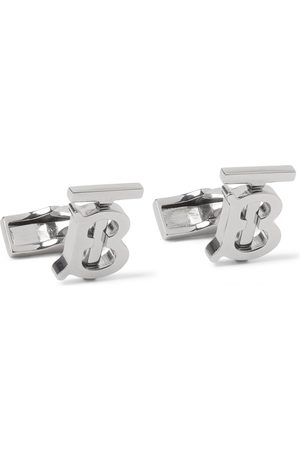 Burberry Homme Cravates - Logo Palladium-Plated Cufflinks