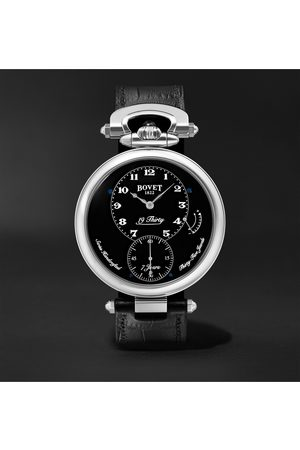 BOVET Homme Montres - 19Thirty Fleurier Hand-Wound 42mm Stainless Steel and Leather Watch, Ref. No. NTR0029