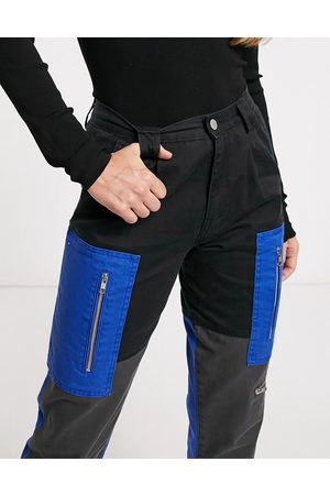 Blue Revival Collusion - Revival - Pantalon cargo color block