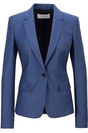 HUGO BOSS Femme Pantalons classiques - Veste Regular Fit en laine vierge à micro motif