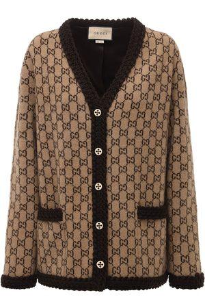 Gucci Cardigan En Laine Tricotée Avec Logo