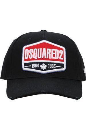 Dsquared2 Casquette En Gabardine De Coton Avec Patch Logo