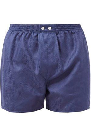 DEREK ROSE Homme Boxers - Caleçon en coton à jacquard logo Lombard