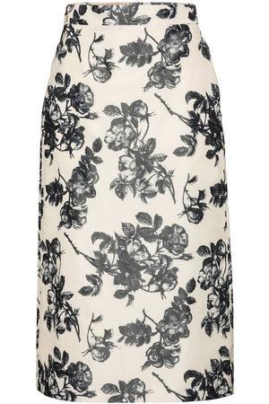 BROCK COLLECTION Femme Jupes imprimées - Jupe crayon Stella en soie mélangée à fleurs