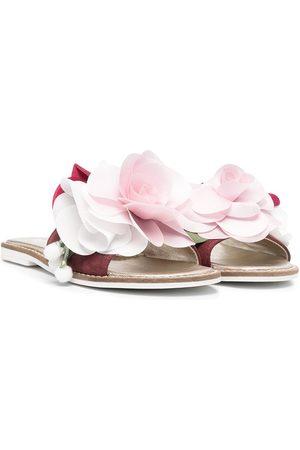 MONNALISA Sandales à appliques fleur