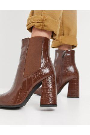 SIMMI Shoes Simmi London - Bottines effet croco à talon carré