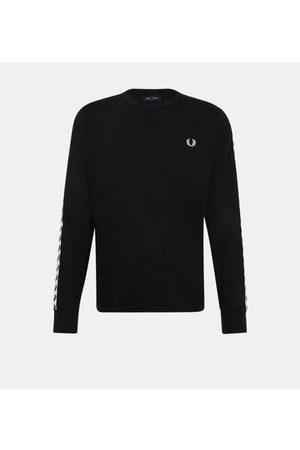Fred Perry T-shirt droit coton manches longues bandes logotypées