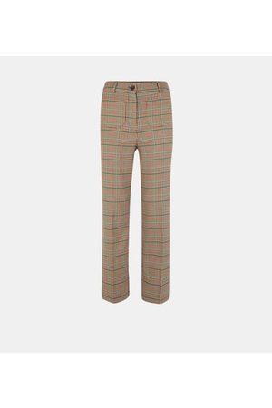 Nice Things Pantalon large Prince de Galles