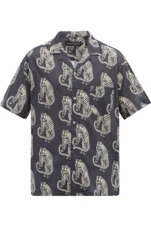 Desmond & Dempsey Homme Casual - Chemise de pyjama en coton imprimé tigré Sansindo
