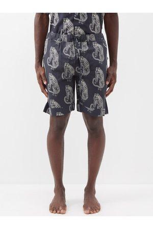 Desmond & Dempsey Homme Pyjamas - Short de pyjama en coton imprimé tigre Sansindo