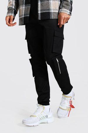 Boohoo Tall Multi Cargo Pocket Cuffed Trouser Homme