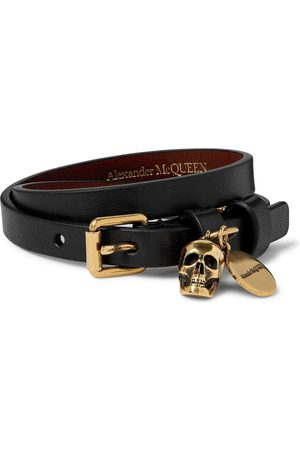 Alexander McQueen Leather and Gold-Tone Bracelet