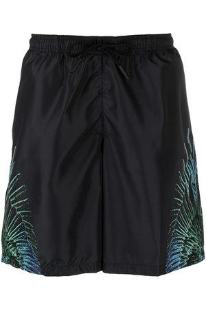 MARCELO BURLON Homme Vêtements de plage - WINGS BOARDSHORT BLACK BLUE NEON