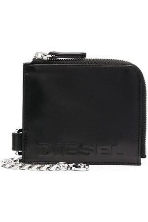 Diesel Portefeuille zippé à logo embossé