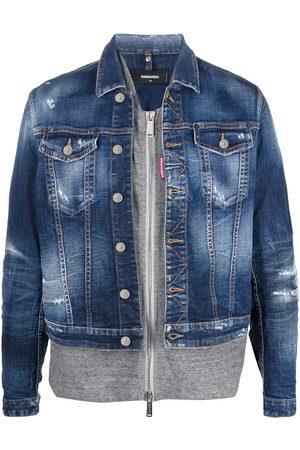 Dsquared2 Veste en jean à design superposé