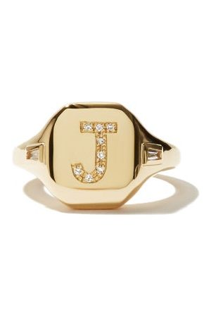 Shay Bague en et diamants Initial (I-Q)